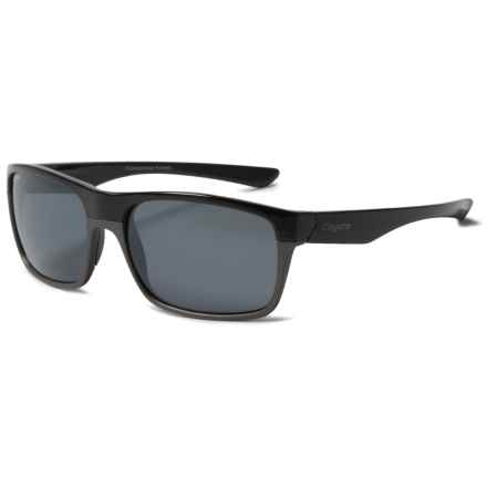 Coyote Eyewear Twist Sunglasses - Polarized in Black Gunmetal/ Silver Mirror - Closeouts