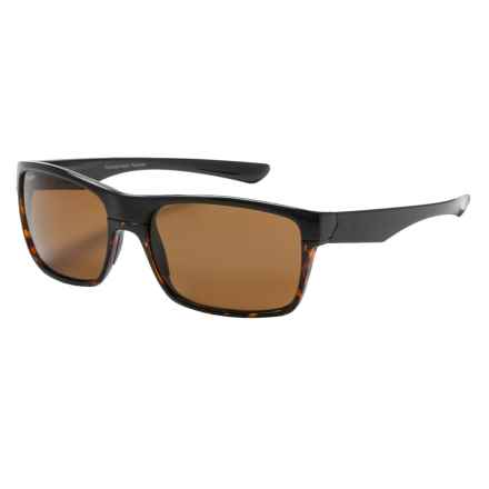 Coyote Eyewear Twist Sunglasses - Polarized in Black Tortoise/Brown - Closeouts