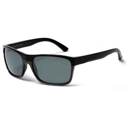 Coyote Eyewear Twisted Sunglasses - Polarized in Black Matte/Sliver Mirror - Closeouts