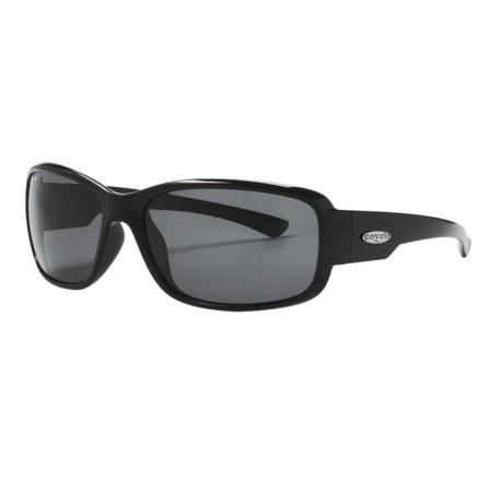 Coyote Eyewear Undertow Sunglasses - Polarized in Black/Grey