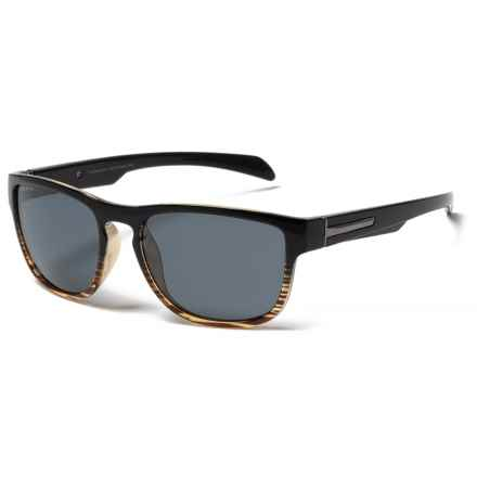 Coyote Eyewear Wahoo Sunglasses - Polarized in Black-Wood Grain/Gray - Closeouts