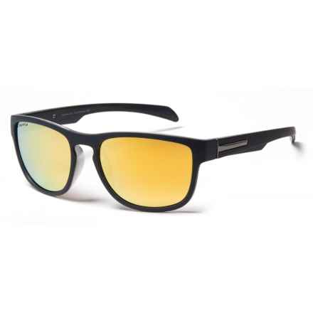 Coyote Eyewear Wahoo Sunglasses - Polarized in Matte Gray/Gold Mirror - Closeouts