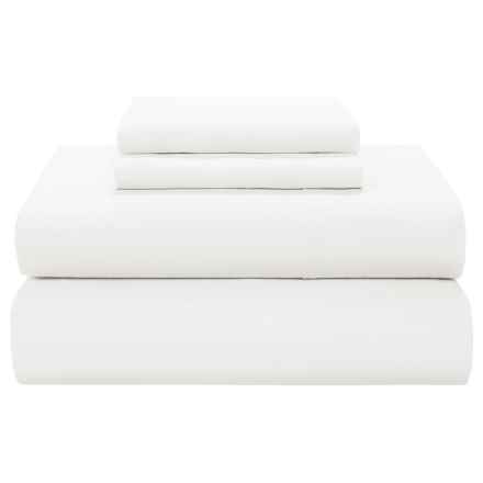 Coyuchi 220 TC Percale Flat Sheet - Twin-Twin XL, Organic Cotton in White - Closeouts