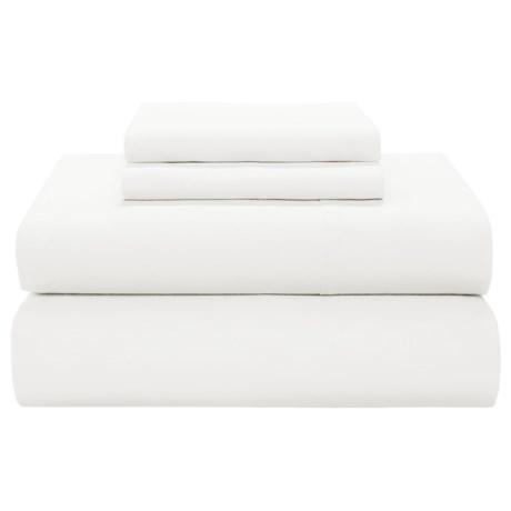 Coyuchi 220 TC Percale Flat Sheet - Twin-Twin XL, Organic Cotton in White