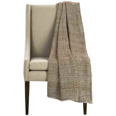 "Coyuchi Chenille Chunky Throw Blanket - Organic Cotton, 47x60"" in Brown - Overstock"