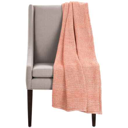 "Coyuchi Chenille Chunky Throw Blanket - Organic Cotton, 47x60"" in Guava - Overstock"