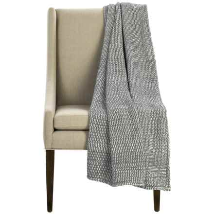"Coyuchi Chenille Chunky Throw Blanket - Organic Cotton, 47x60"" in Slate - Overstock"