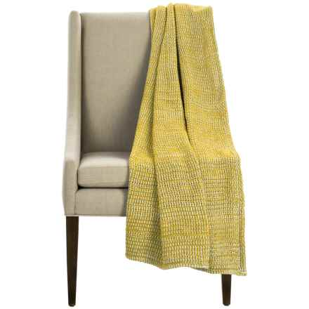 "Coyuchi Chenille Chunky Throw Blanket - Organic Cotton, 47x60"" in Sunflower - Overstock"