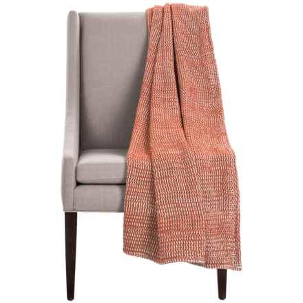 "Coyuchi Chenille Chunky Throw Blanket - Organic Cotton, 47x60"" in Terra Cotta - Overstock"