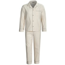 Coyuchi Classic Flannel Pajamas - Organic Cotton, Long Sleeve (For Men) in Ivory/Linen - Closeouts