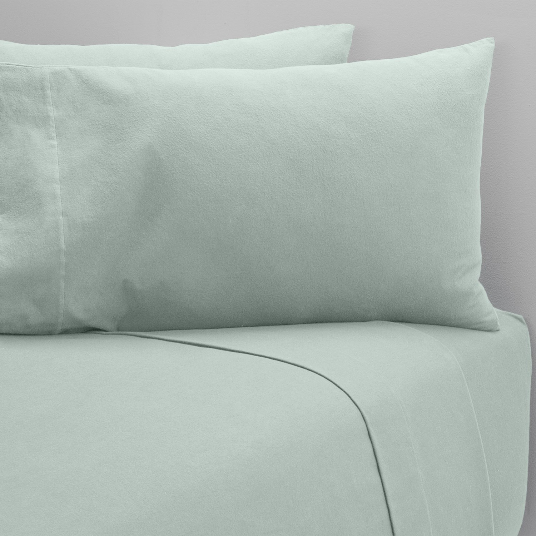 coyuchi cloud brushed flannel fitted sheet king organic. Black Bedroom Furniture Sets. Home Design Ideas