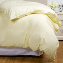 Coyuchi Coastal Organic Cotton Percale Duvet Cover - Full-Queen, 220 TC in Sunlight - Overstock