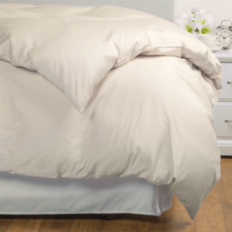 Coyuchi Coastal Organic Cotton Sateen Duvet Cover Full Queen, 300 TC