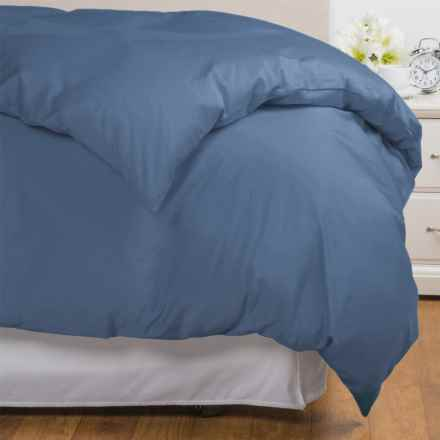 Coyuchi Coastal Organic Cotton Sateen Duvet Cover - Twin, 300 TC in French Blue - Overstock