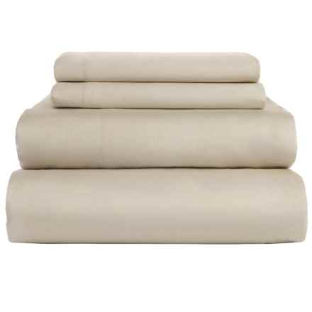 Coyuchi Coastal Organic Cotton Sateen Sheet Set - California King, 300 TC in Sandstone - Closeouts
