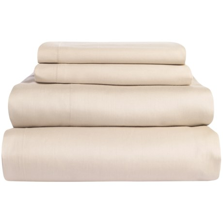 Coyuchi Coastal Organic Cotton Sateen Sheet Set Full, 300 TC
