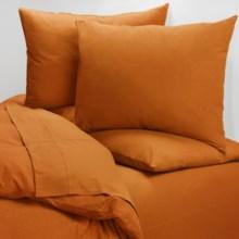 Coyuchi Cotton Jersey Sheet Set - X-Long Twin in Dark Tangerine - Closeouts