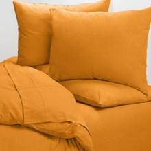 Coyuchi Cotton Jersey Sheet Set - X-Long Twin in Tangerine - Closeouts