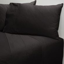 Coyuchi Cotton Sateen Fitted Sheet - King, 300 TC in Almost Black - Closeouts