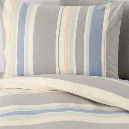 Coyuchi Desert Stripe Duvet Cover Set - Twin, Organic Cotton in Multi - Closeouts