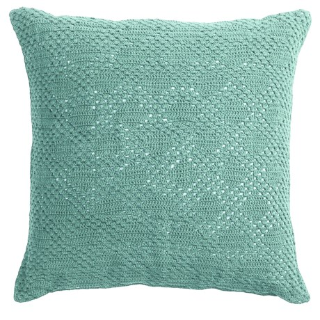 Coyuchi Diamond Crochet Decor Pillow 20x20