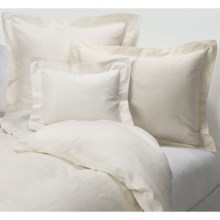 Coyuchi Diamond Jacquard Duvet Cover - King, Organic Cotton, 300 TC in Ivory W/White - Closeouts