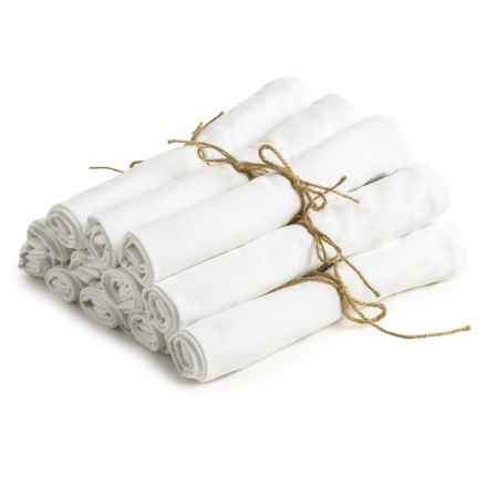Coyuchi Farmhouse Organic Cotton Napkins - Set of 12 in Alpine White - Overstock