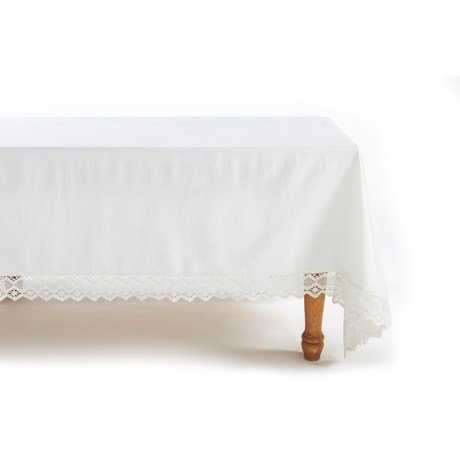 Coyuchi Grand Lace Tablecloth 70x108