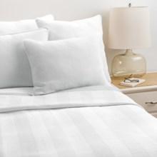 Coyuchi Herringbone Matelasse Coverlet - King, Organic Cotton in White/Mid Grey - Closeouts