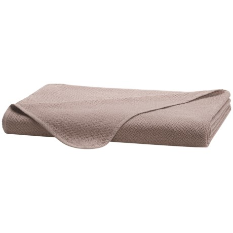 Coyuchi Honeycomb Blanket - King, Organic Cotton in Taupe