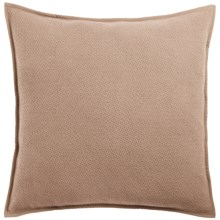 Coyuchi Honeycomb Organic Cotton Pillow Sham - Euro in Taupe - Closeouts