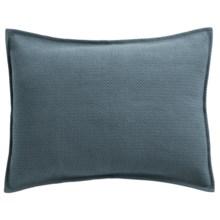 Coyuchi Honeycomb Pillow Sham - Standard, Organic Cotton in Dusty Aqua - Closeouts