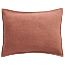 Coyuchi Honeycomb Pillow Sham - Standard, Organic Cotton in Dusty Rose - Closeouts