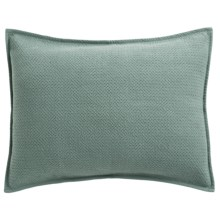 Coyuchi Honeycomb Pillow Sham - Standard, Organic Cotton in Pale Green - Closeouts