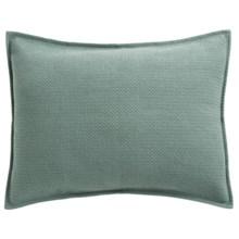 Coyuchi Honeycomb Pillow Sham - Standard, Organic Cotton in Pale Green - Closeouts