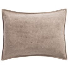 Coyuchi Honeycomb Pillow Sham - Standard, Organic Cotton in Taupe - Closeouts