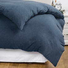 Coyuchi Jersey Duvet Cover - King in Indigo Heather - Closeouts