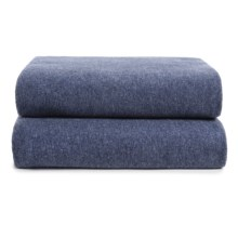Coyuchi Jersey Envelope Heather Pillowcases - Standard, Set of 2 in Indigo Heather - Closeouts