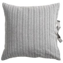 "Coyuchi Knit Decor Pillow - Organic Cotton, 16x16"" in Gray - Closeouts"
