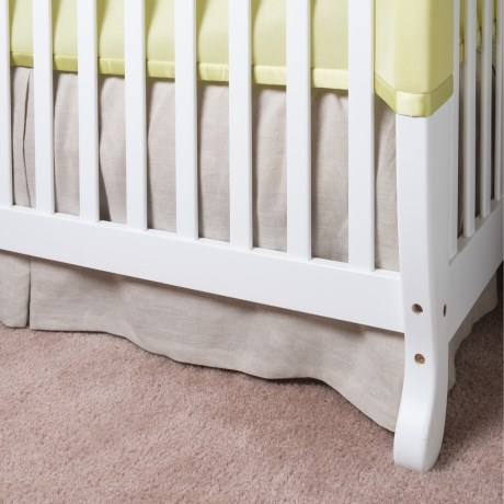 Coyuchi Linen Breeze Crib Skirt in Natural
