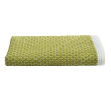Coyuchi Mediterranean Washcloth - Organic Cotton in Green Tea/Aqua Stripe - Closeouts