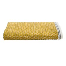 Coyuchi Mediterranean Washcloth - Organic Cotton in Mustard/Gray Stripe - Closeouts