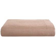 Coyuchi Mini Stripe Flat Sheet - Full-Queen, Linen, Organic Cotton in Natural/Brick - Closeouts