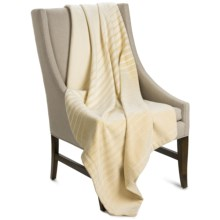 """Coyuchi Ombre Throw Blanket - 60x47"""", Organic Cotton-Merino Wool in Natural / Mustard - Closeouts"""