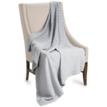 "Coyuchi Ombre Throw Blanket - 60x47"", Organic Cotton-Merino Wool in Pewter / Gray - Closeouts"