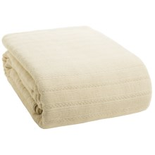 Coyuchi Organic Cotton Dobby Weave Blanket - Full/Queen in Ivory - Closeouts