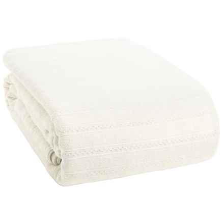 Coyuchi Organic Cotton Dobby Weave Blanket - King in White - Closeouts