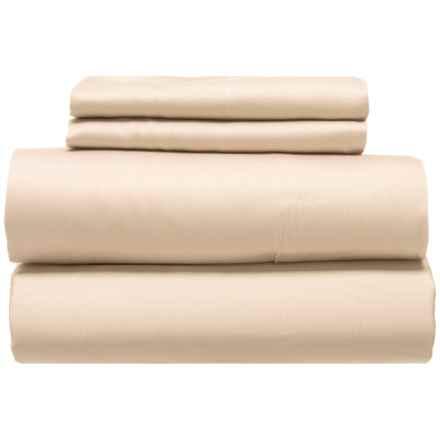 Coyuchi Organic Cotton Sateen Natural Sheet Set - King, 300 TC in Natural - Closeouts