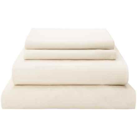 Coyuchi Organic Cotton Sateen Sheet Set - 300 TC, King in Ivory - Closeouts