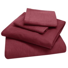 Coyuchi Organic Cotton Slub Jersey Bedding Set - 4-Piece,Twin XL in Slub Mulberry - Closeouts